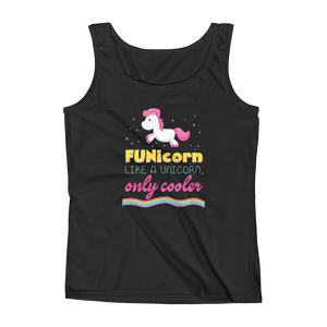 FUNicorn Like A Unicorn, Only Cooler - Ladies' Tank - Cozzoo