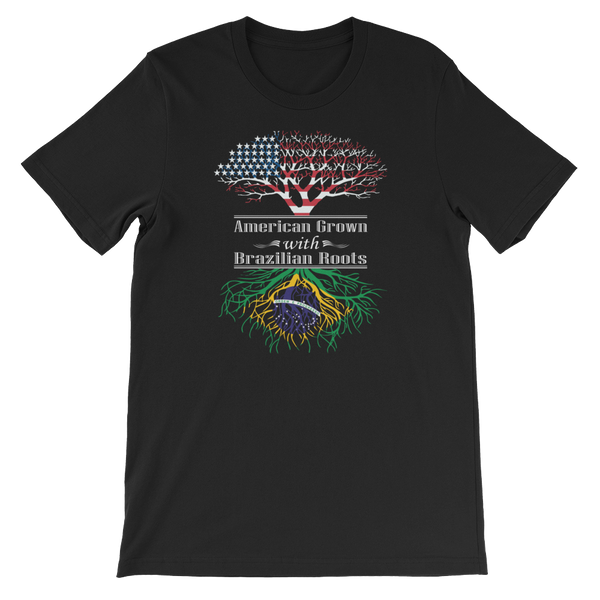 American Grown With Brazilian Roots - Short-Sleeve Unisex T-Shirt - Cozzoo
