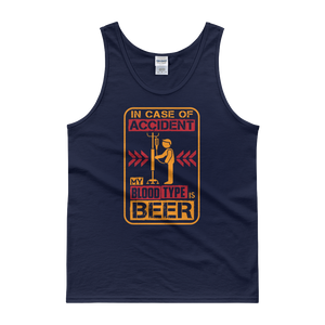 In Case Of Accident, My Blood Type Is Beer - Tank top - Cozzoo