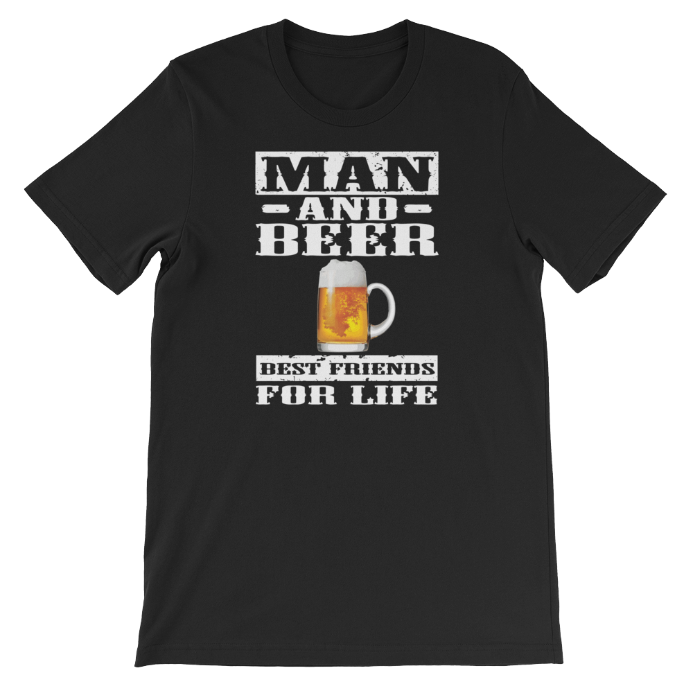 Man And Beer Best Friends For Life - Short-Sleeve Unisex T-Shirt - Cozzoo