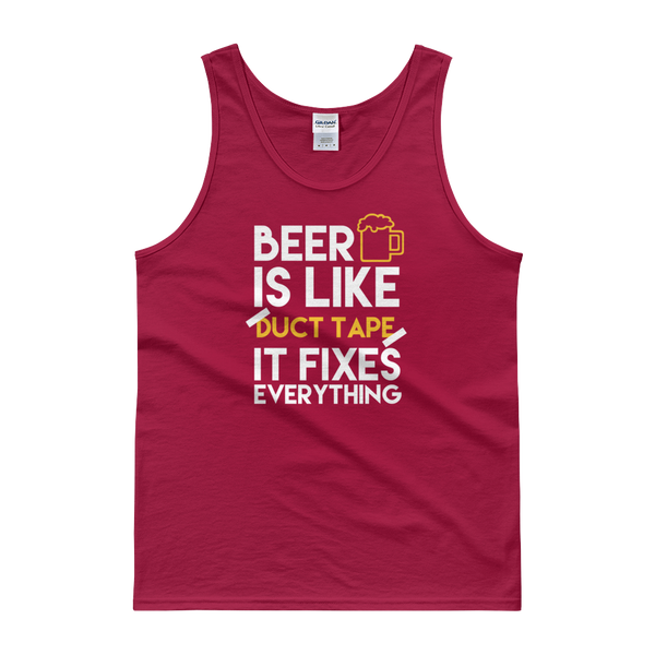 Beer Is Like Duct Tape It Fixes Everything - Tank top - Cozzoo