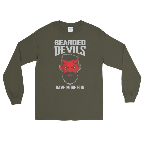 Bearded Devils Have More Fun - Long Sleeve T-Shirt - Cozzoo