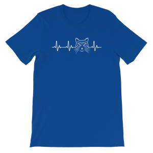 Cat Heart Beat - Short-Sleeve Unisex T-Shirt - Cozzoo