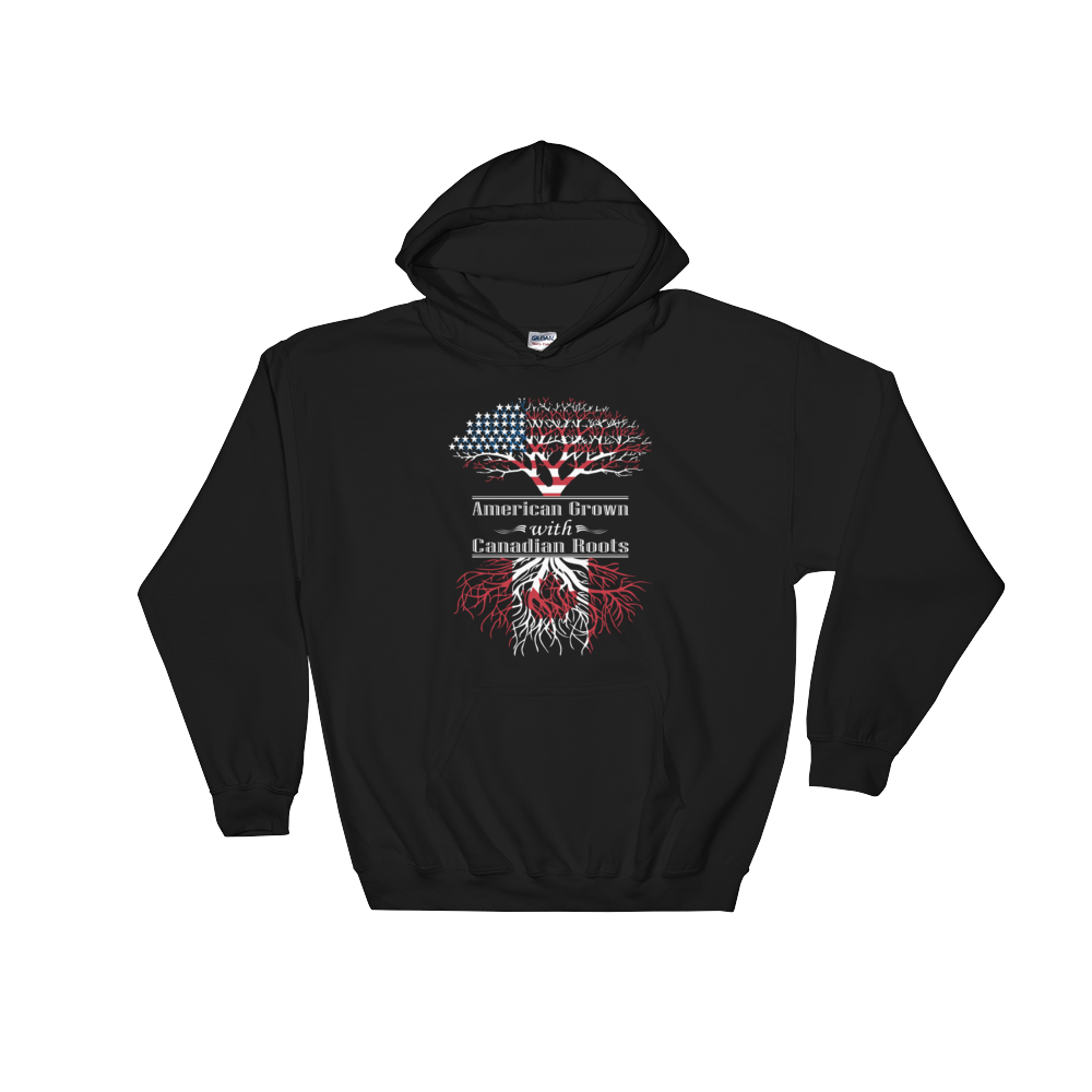 American Grown With Canadian Roots - Hoodie Sweatshirt - Cozzoo