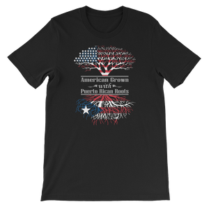 American Grown With Puerto Rican Roots - Short-Sleeve Unisex T-Shirt - Cozzoo