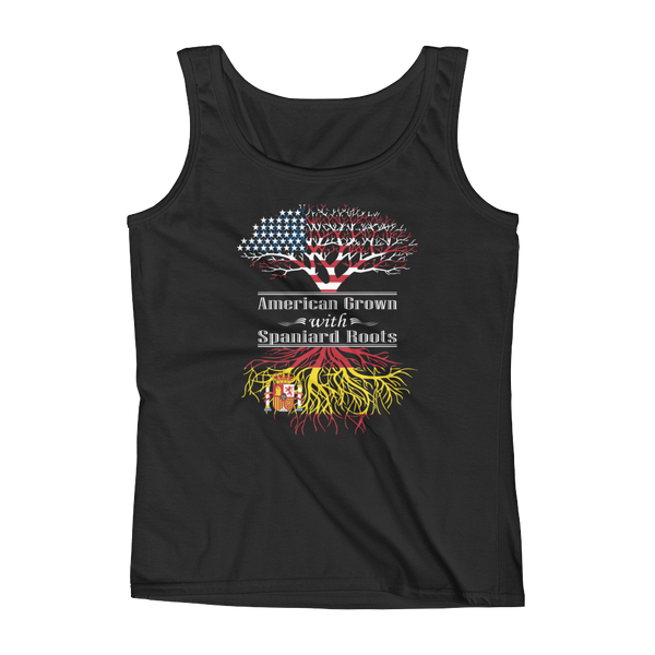 American Grown With Spaniard Roots - Ladies' Tank - Cozzoo