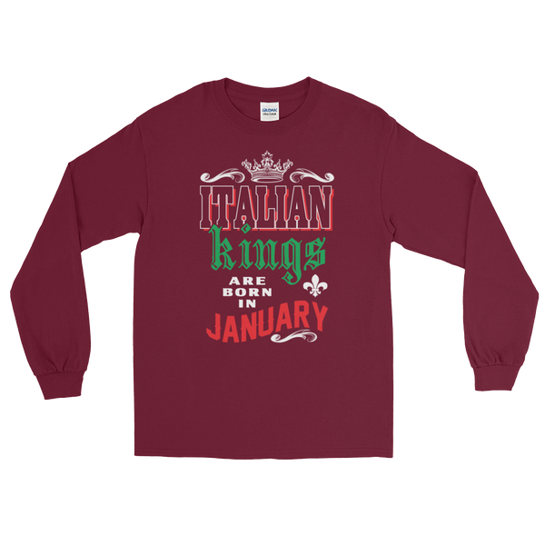 Italian Kings Are Born In January - Long Sleeve T-Shirt - Cozzoo