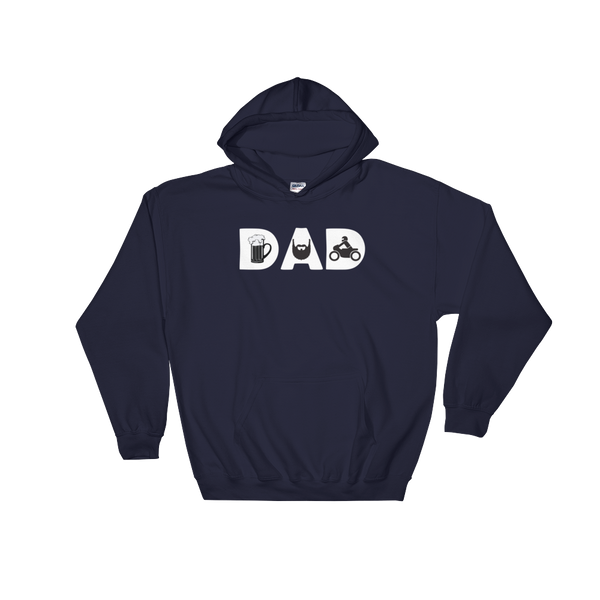 DAD - Beer - Beard - Bike - Hoodie Sweatshirt Sweater - Cozzoo