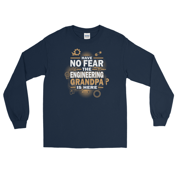 Have No Fear The Engineering Grandpa Is Here - Long Sleeve T-Shirt - Cozzoo