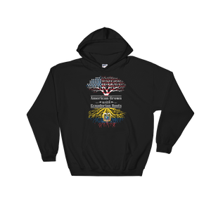 American Grown With Ecuadorian Roots - Hoodie Sweatshirt - Cozzoo