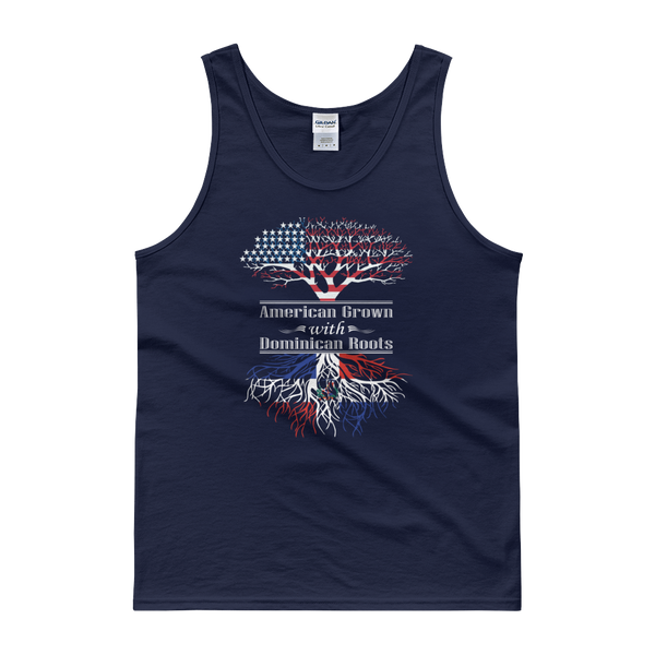 American Grown With Dominican Roots - Tank top - Cozzoo
