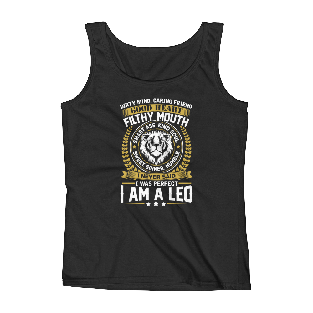 Dirty Mind, Caring Friend, Good Heart... Leo - Ladies' Tank - Cozzoo