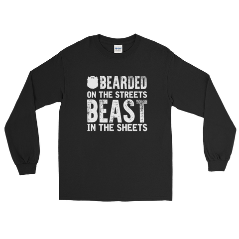 Bearded On the Streets Beast In The Sheets - Long Sleeve T-Shirt - Cozzoo