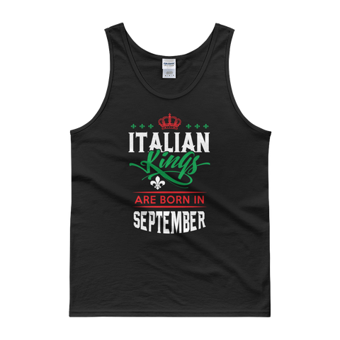 Italian Kings Are Born In September - Tank top - Cozzoo
