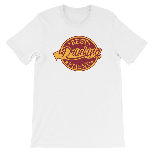 Best Drinking Friend - Short-Sleeve Unisex T-Shirt - Cozzoo