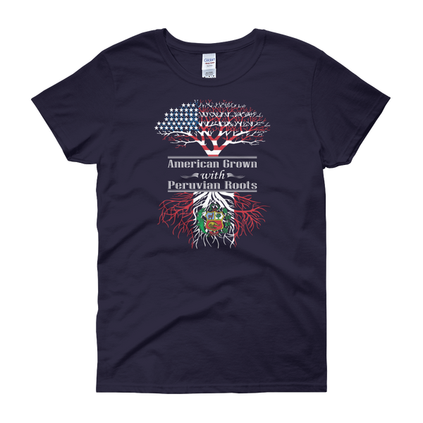 American Grown With Peruvian Roots - Women's short sleeve t-shirt - Cozzoo