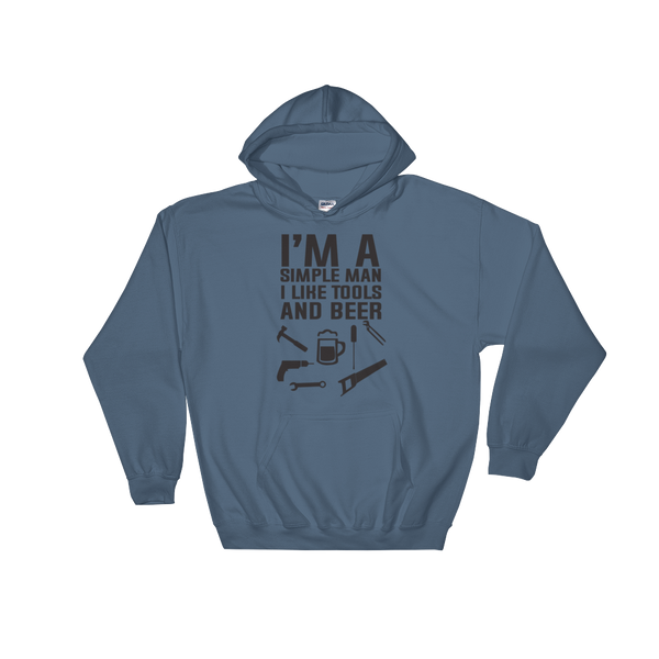 I'm A Simple Man I Like Tools And Beer - Hoodie Sweatshirt - Cozzoo