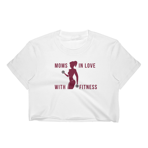 MILF Moms In Love With Fitness - Women's Crop Top - Cozzoo