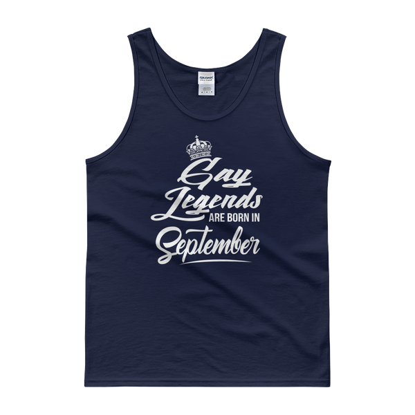 Gay Legends Are Born In September - Tank top - Cozzoo