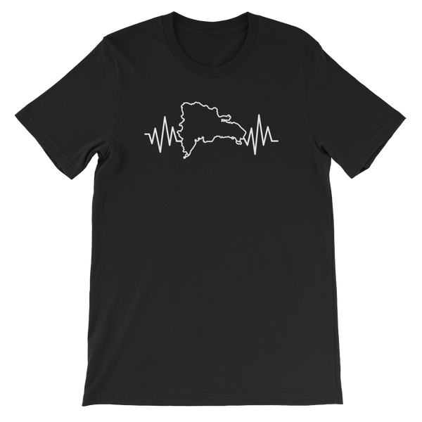 Dominican Heartbeat - Short-Sleeve Unisex T-Shirt - Cozzoo