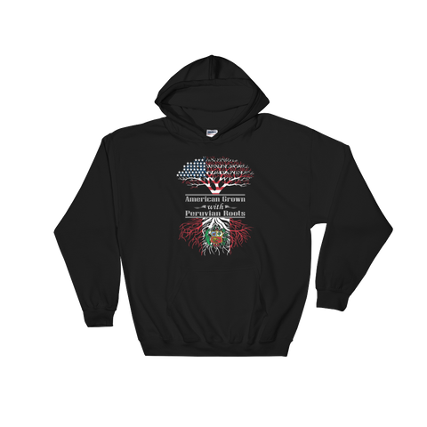 American Grown With Peruvian Roots - Hoodie Sweatshirt Sweater - Cozzoo