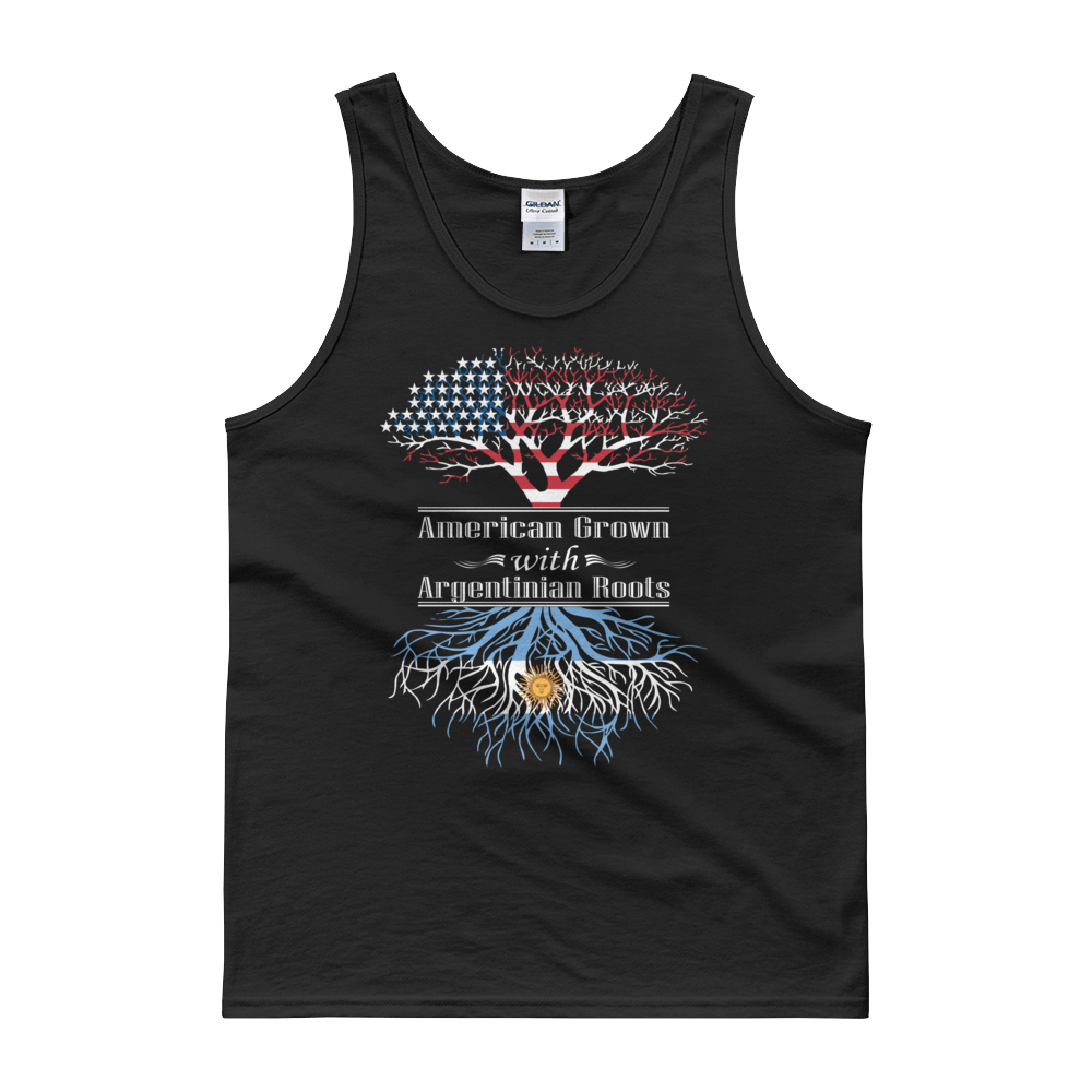 American Grown With Argentinian Roots - Tank top - Cozzoo