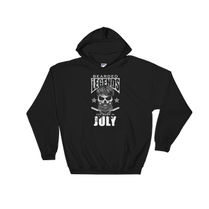 Bearded Legends Are Born In July - Hoodie Sweatshirt - Cozzoo