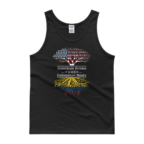American Grown With Colombian Roots - Tank top - Cozzoo