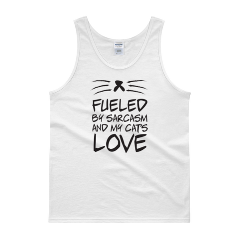 Fueled By Funny And My Cat's Love - Tank top - Cozzoo
