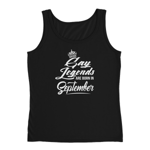 Gay Legends Are Born In September - Ladies' Tank - Cozzoo