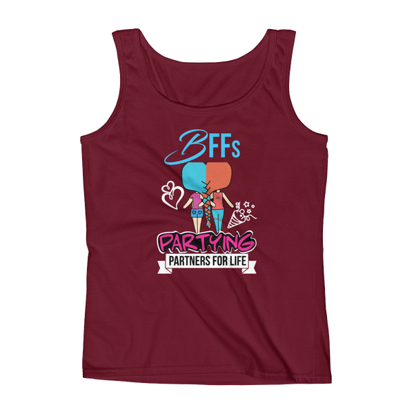 BFFs Partying Partners For Life - Ladies' Tank - Cozzoo