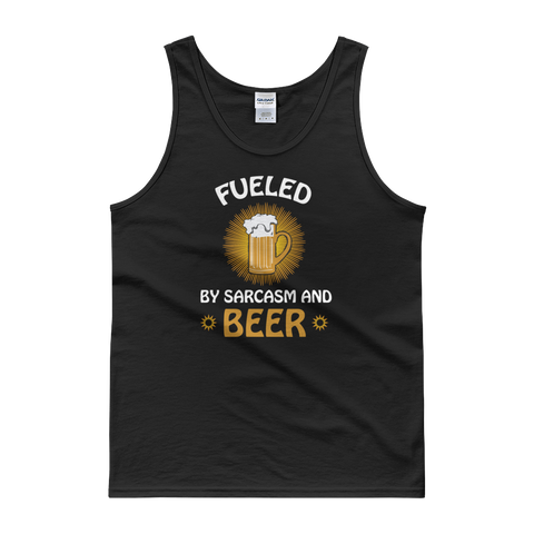 Fueled By Funny And Beer - Tank top - Cozzoo