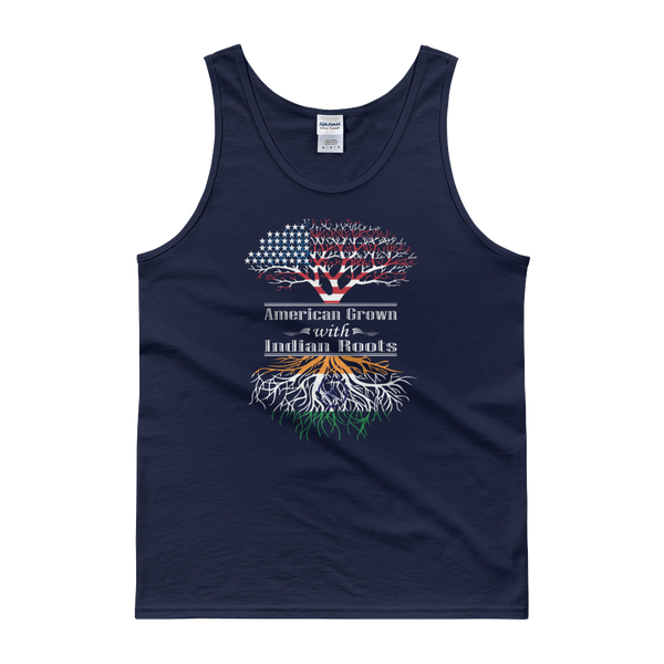 American Grown With Indian Roots - Tank top - Cozzoo