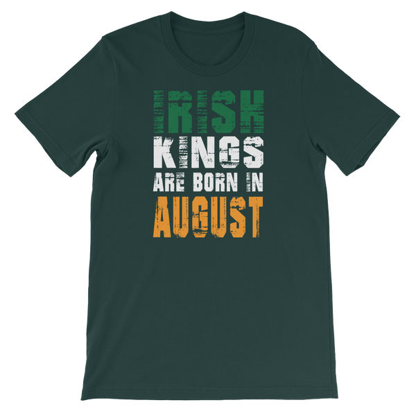 Irish Kings Are Born In August - Short-Sleeve Unisex T-Shirt - Cozzoo