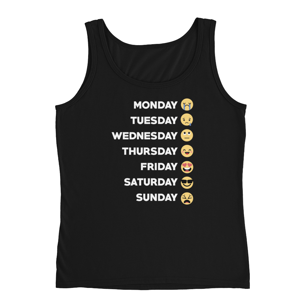 Monday Tuesday Wednesday Thursday Friday Saturday Sunday - Ladies' Tank - Cozzoo