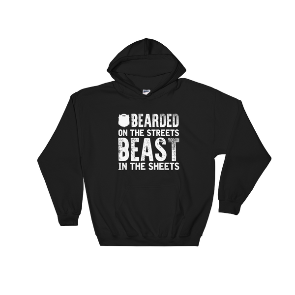 Bearded On the Streets Beast In The Sheets - Hoodie Sweatshirt Sweater - Cozzoo