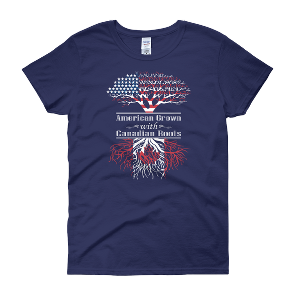 American Grown With Canadian Roots - Women's short sleeve t-shirt - Cozzoo