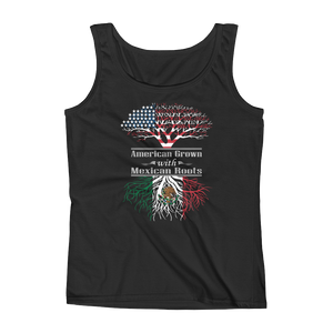 American Grown With Mexican Roots - Ladies' Tank - Cozzoo