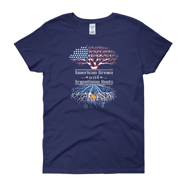American Grown With Argentinian Roots - Women's short sleeve t-shirt - Cozzoo