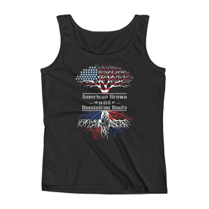 American Grown With Dominican Roots - Ladies' Tank - Cozzoo