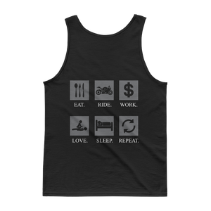 Eat Ride Work Love Sleep Repeat - Tank top - Cozzoo