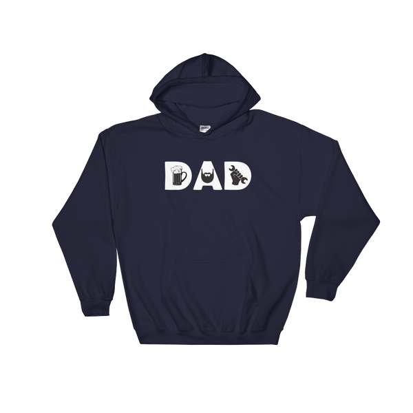 DAD - Beer - Beard - Mechanic - Hoodie Sweatshirt Sweater - Cozzoo