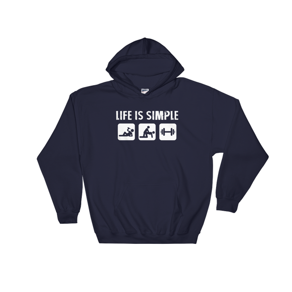 Life Is Simple - Fitness - Hoodie Sweatshirt - Cozzoo