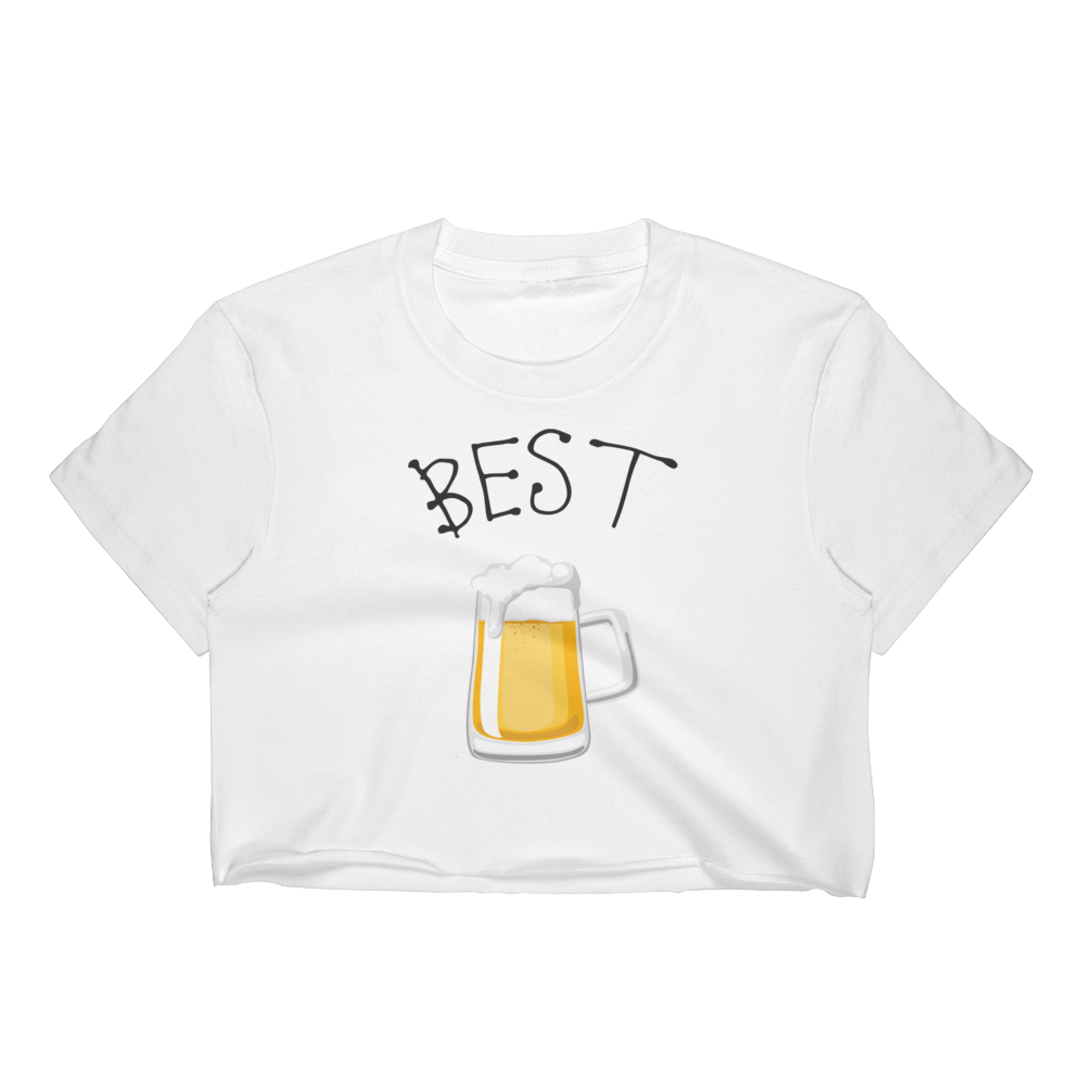 Best Friends - Beer/Drinking - Women's Crop Top - Cozzoo