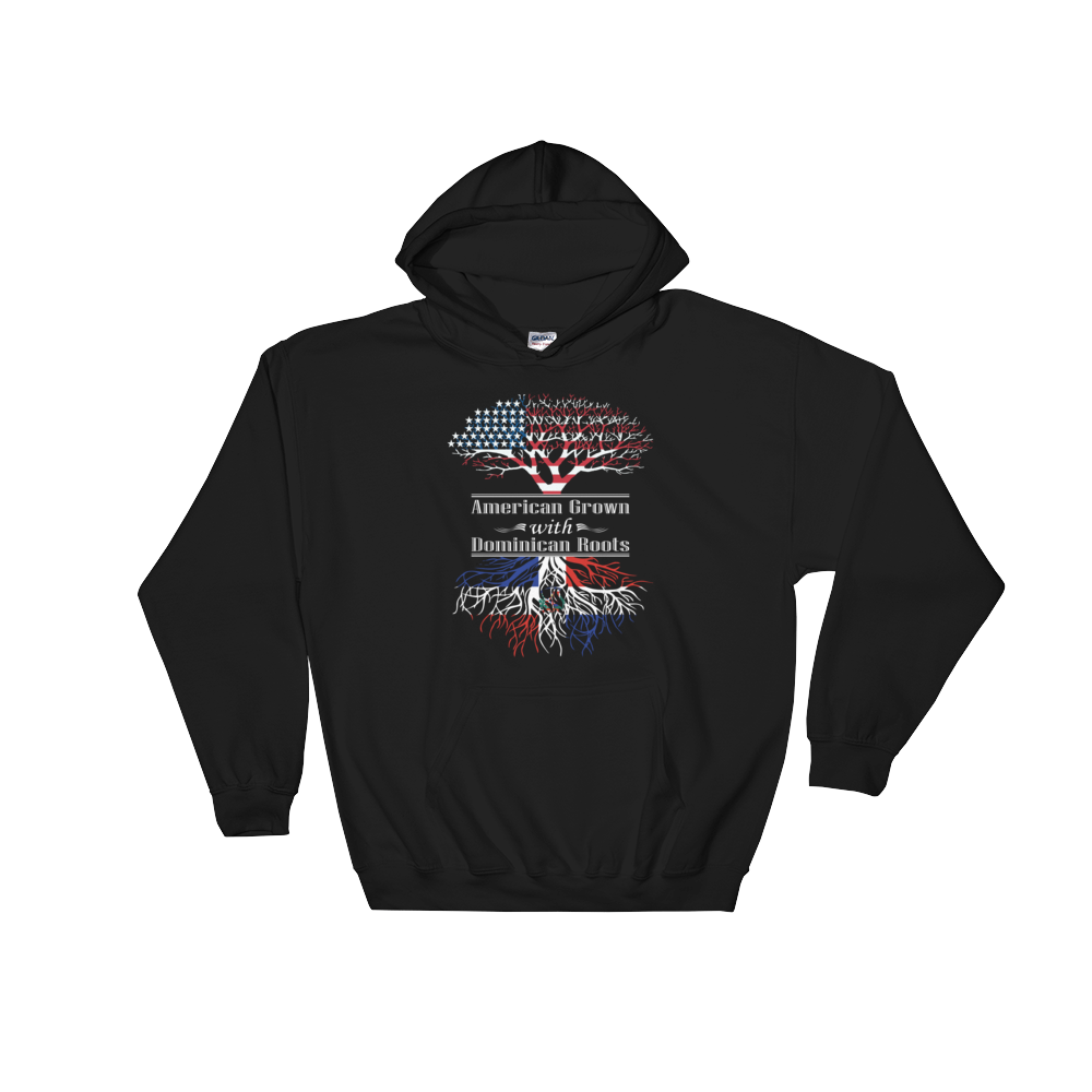 American Grown With Dominican Roots - Hoodie Sweatshirt - Cozzoo