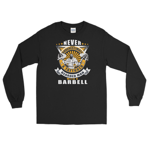 Never Underestimate A Tattooed Bearded Man With A Barbell - Long Sleeve T-Shirt - Cozzoo
