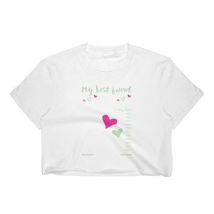 My Best Friend Facts - Women's Crop Top - Cozzoo