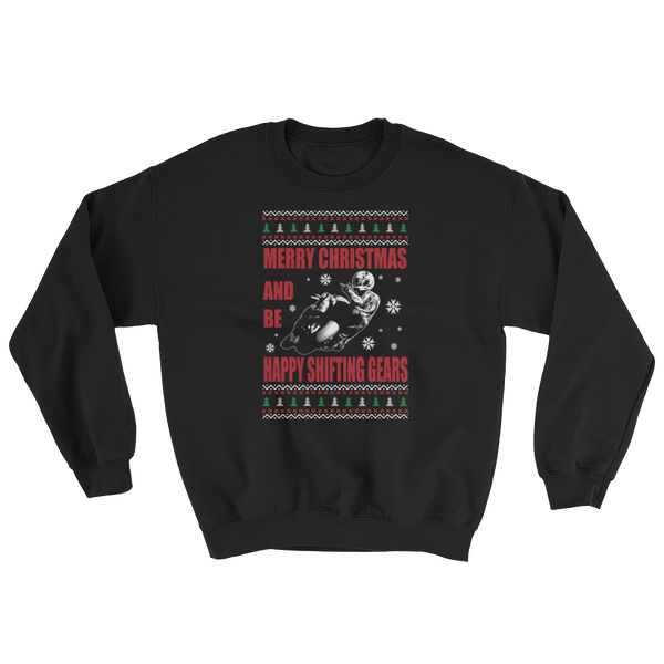 Merry Christmas And Be Happy Shifting Gears - Sweatshirt - Cozzoo