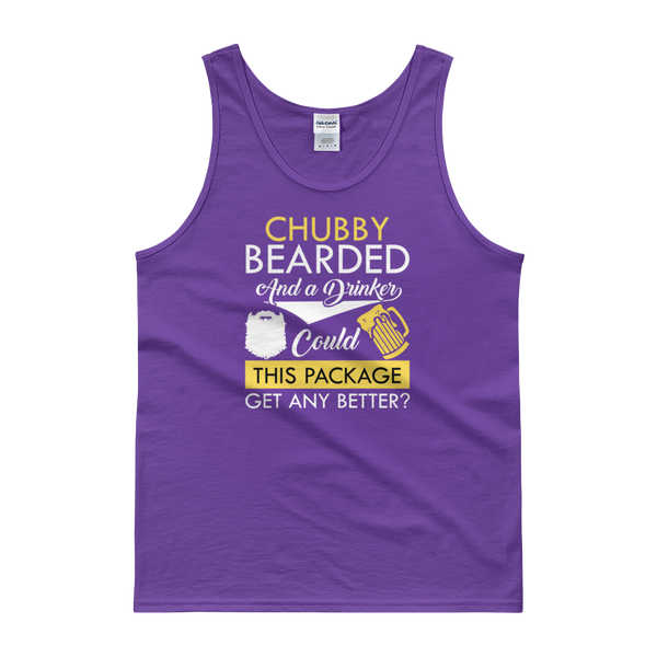 Chubby Bearded And A Drinker Could This Package Get Any Better? - Tank top - Cozzoo