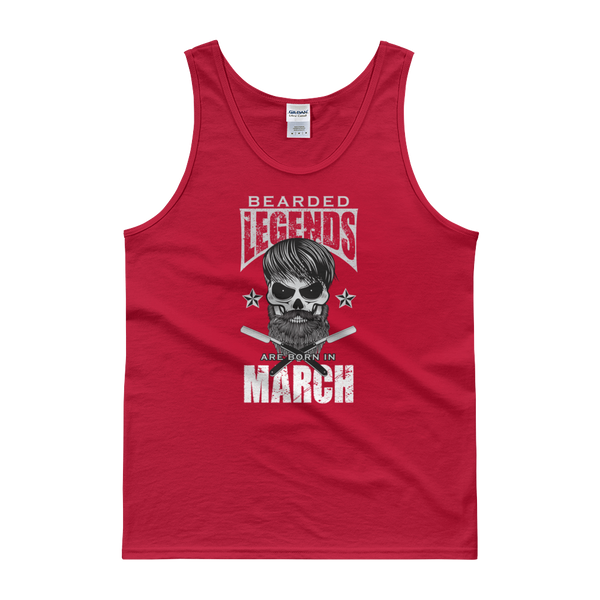 Bearded Legends Are Born In March - Tank top - Cozzoo